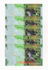 KUWAIT 1/2 DINAR 2014 NEW UNC 5 Sequential Notes (FREE US SHIPPING)