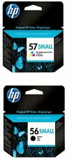 GENUINE ORIGINAL HP 56 small Black 57 Colour Ink Cartridges C6656AG SEALED Unbox