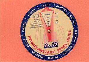 Wall's Ice Cream Interplanetary Guide Astronomy Advertising  AH837