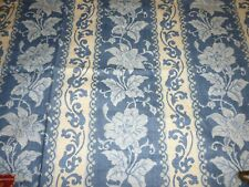 "Nina Campbell Osborne & Little ASTICOU PENCRAIG floral stripe SAMPLE 24x27"" BLUE"
