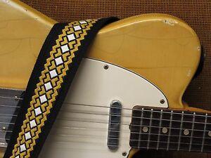 CROSSROADS Vintage Cotton USA made TROPHY Guitar Strap