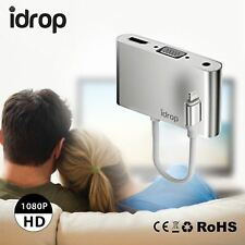 idrop P32 Lightning to HDMI / VGA Audio Adapter for iPhone 5 / 6 / 7 iPad / iPod