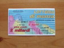 BIGLIETTO LOTTERIA Nazionale Lotteria di Monza F1 1989 [AF20]