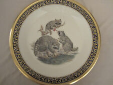 RACCOONS collector plate 1973 LENOX Woodland Wildlife BOEHM