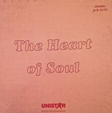 RADIO SHOW: HEART OF SOUL 2/8/91 4 HRS/30 INTERVIEWS/53 SONGS/SPECIAL FEATURES
