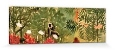 Henri Rousseau - Tropischer Wald Poster Leinwand-Druck Bild (120x40cm) #102812