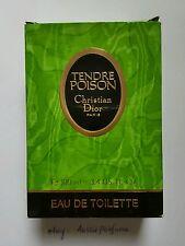 Vintage Tendre Poison Christian Dior 100ml EDT Splash UnSealed Unused Rare