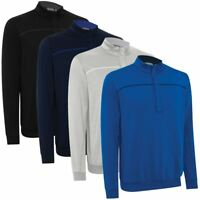 ASHWORTH PERFORMANCE EZ-SOF WIND-LINED THERMAL SWEATER MENS GOLF PULLOVER 74%OFF