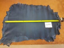 Royal Light Blue Whole Sheep Skin Leather 0.4-0.6mm Thick Good Quality 24055