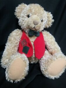 Hallmark Tyler Teddy Bear Red Vest