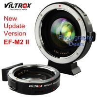 Viltrox EF-M2 II AF Adapter Focal Reducer Booster For Canon EF Lens to M43 MFT