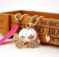 Pendant Betsey Johnson Charming Jewelry Rhinestone Pumpkin car Chain Necklace