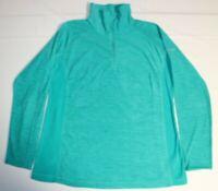 Womens Columbia 1/2 Zip Arctic Air Fleece Lightweight Pullover XL Green XK1447