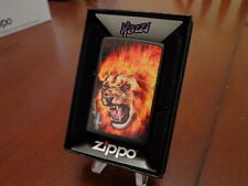 MAZZI FLAMING LION ZIPPO LIGHTER MINT IN BOX