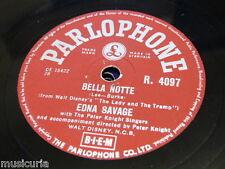 78rpm EDNA SAVAGE bella notte / arrivederci darling