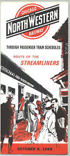 1969 Chicago & Northwstern Railway Time Table / Oct. 8, 1969