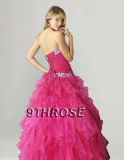 STAR IN YOUR FAIRYTALE! FUCHSIA BEADED PROM/FORMAL/EVENING/BALL GOWN; AU18/US16