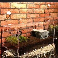 Reptile Feeding Box Acrylic Pet Insect Breeding Cage Turtle Tank Rearing Box