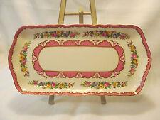 Crown Staffordshire LYRIC TUNIS Scalloped Sandwich Platter/Tray