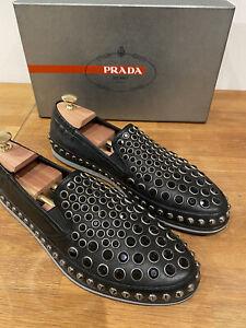 Prada Herren Schuhe Stylische Slipper Loafer Größe EU 44 UK 10