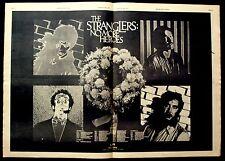 THE STRANGLERS 1977 original POSTER ADVERT NO MORE HEROES punk