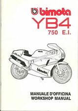 COPIA MANUALE OFFICINA BIMOTA YB4 750 E.I. WORKSHOP MANUAL COPY ( ITA ENG )