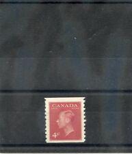 CANADA Sc 300(SG 422)*VF LH 1950B 4c CARMINE RED COIL STAMP, IMPERF X 91/2 $28