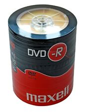 100 Maxell DVD-R Recordable Blank Discs BULK SHRINK WRAPPED Pack