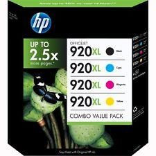 5 Genuine HP 920xl Black Cyan Magenta Yellow Ink Cartridges