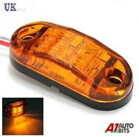 4 X AMBER ORANGE 24V 2 LED SIDE MARKER INDICATORS LIGHTS TRUCK TRAILER E-MARKED