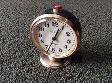 Vintage Soviet Mechanical Alarm Clock, Slava, Made In USSR, 11 Jewels ~ Works!