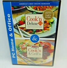 Cook'n Deluxe Cook'n & Grill'n Recipe +Cook'N For Kids Version 6 2 Disc Pc Cd'S
