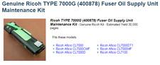 Ricoh Printer Maintenance Kit 7000G - Fuser Oil  CL7000, DSc38u, CLP28, LP138c