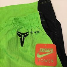 NWT Nike 2010 Kobe Bryant Shorts sz Medium Black Light Green 382844-333 IV V VI