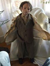 Vintage Bizarre Man Mannequin Doll Lifelike Custom Artist Signed La Fleur Oddity