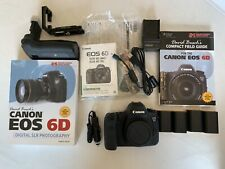 Canon EOS 6D 20.2MP Digital SLR Camera - Black (Body Only) + Extras