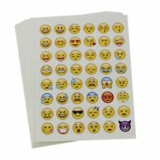 20 Sheets Cute Mixed 48 Emoji Expressions Small Stickers
