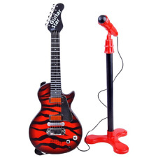 Kindergitarre Rockgitarre Mikrofon mit Stativ  Kinder gitarre NEU OVP