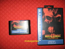MORTAL KOMBAT II UNLIMITED Sega Megadrive Mega drive 2 PAL NTSC
