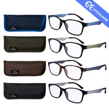 EYEGUARD Reading Glasses Men Leisure Business Style Readers 4 Pairs +1.0 to +4.0