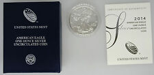 2014-W Burnished American Silver Eagle with Box & COA