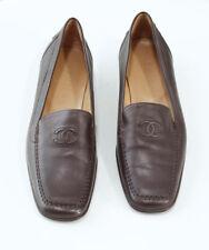 Chaussures plates et ballerines CHANEL en cuir pour femme   eBay 36acbb3054e