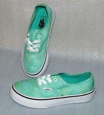 Vans Authentic K'S Canvas Schuhe Freizeit Sneaker Gr 31 UK13 Sparkle Mint Weiß
