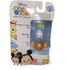 Disney Tsum Tsum Peas-in-a-Pod Baymax Gus Minifigures 3 Pack series 2