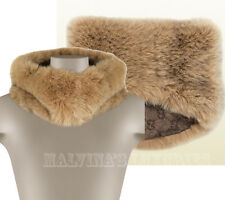 $1,395 GUCCI FOX FUR & WOOL RING SCARF STOLE LIGHT & DARK BROWN