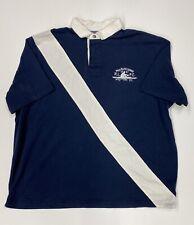 Polo Ralph Lauren Men's Blue & White Striped Polo Rugby Shirt Sz XXL