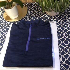 Girls Vineyard Vines Performance Long Sleeve Purple 1/4 Zip Youth Large 16