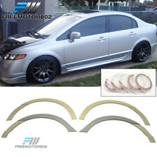 For 06-11 Honda Civic Sedan RR Style Fender Flares Unpainted ABS