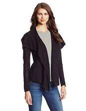 Jones New York Women's Size Large Black Long Sleeve Waterfall Cardigan Sweater