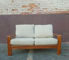 BEAUTIFUL VINTAGE DANISH MODERN TEAK LOVESEAT / SOFA DESIGNER MID CENTURY MCM